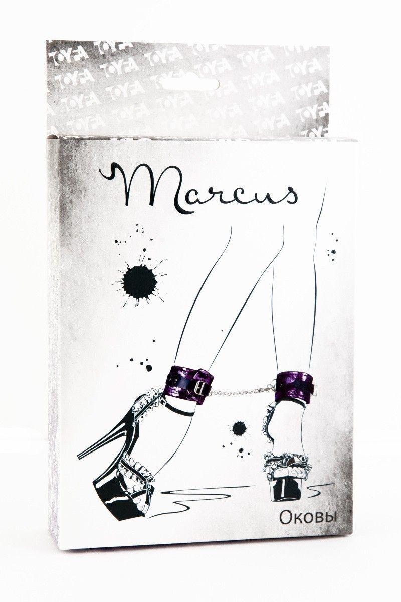 Кружевные поножи TOYFA Marcus пурпурные, 46 см.