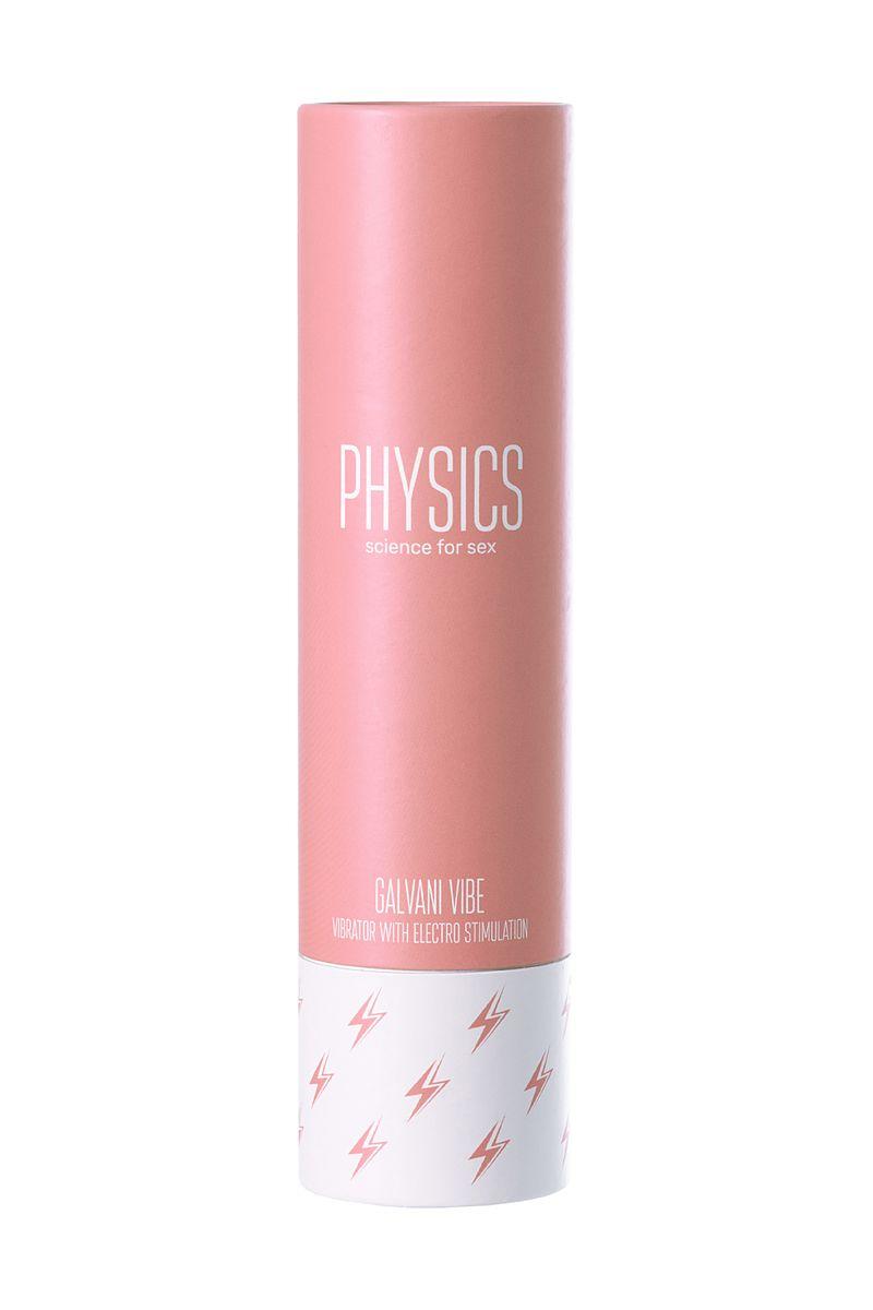 Вибратор с электростимуляцией PHYSICS GALVANI VIBE, силикон, розовый, 20,5 см