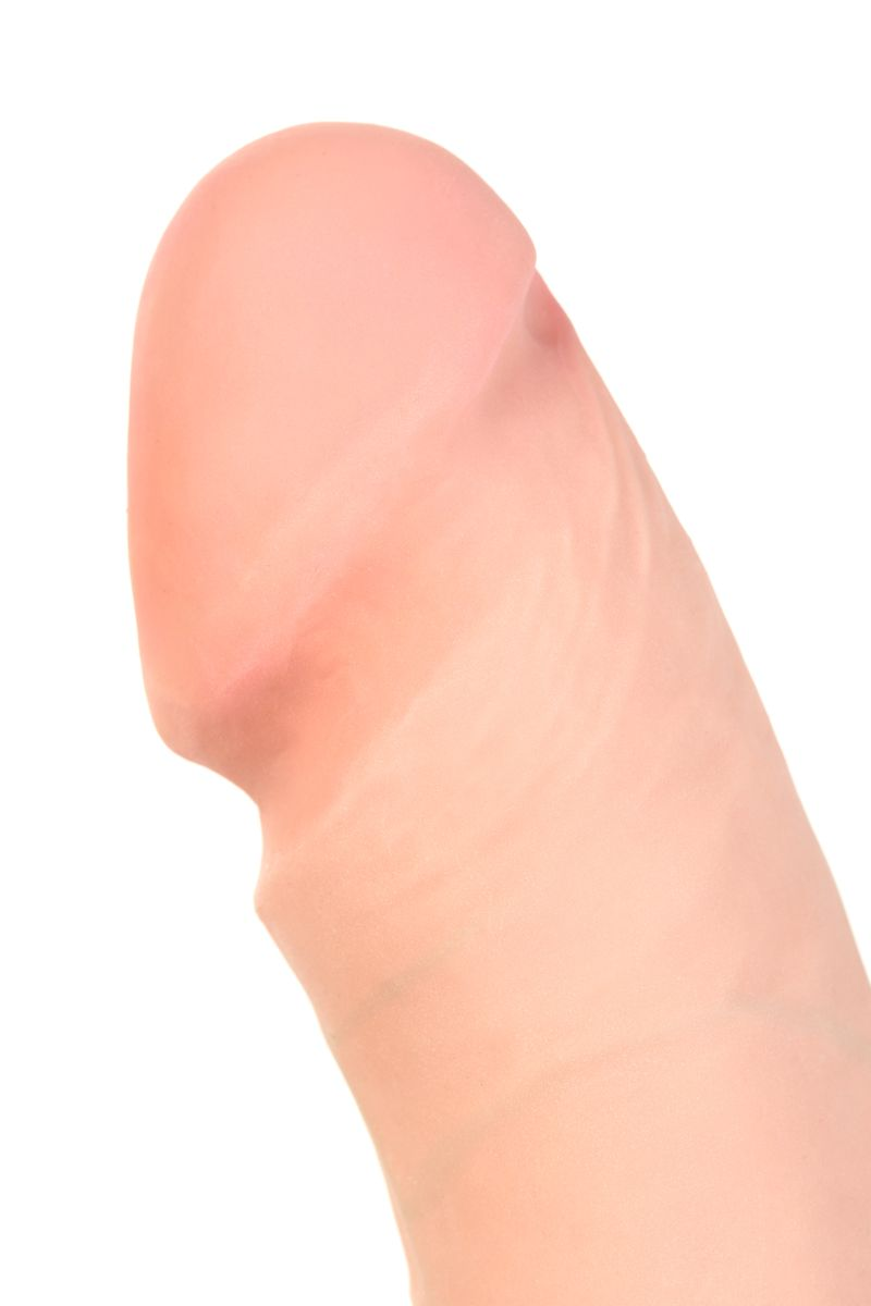 Вибратор TOYFA RealStick Elite реалистичный, на присоске, 7 режимов вибрации, телесный, 18 см