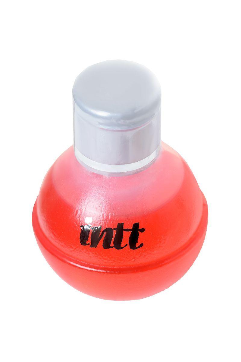 Съедобное масло для массажа INTT FRUIT SEXY Strawberry & Champagne с разогревающим эффектом и ароматом клубники и шампанского, 40 мл