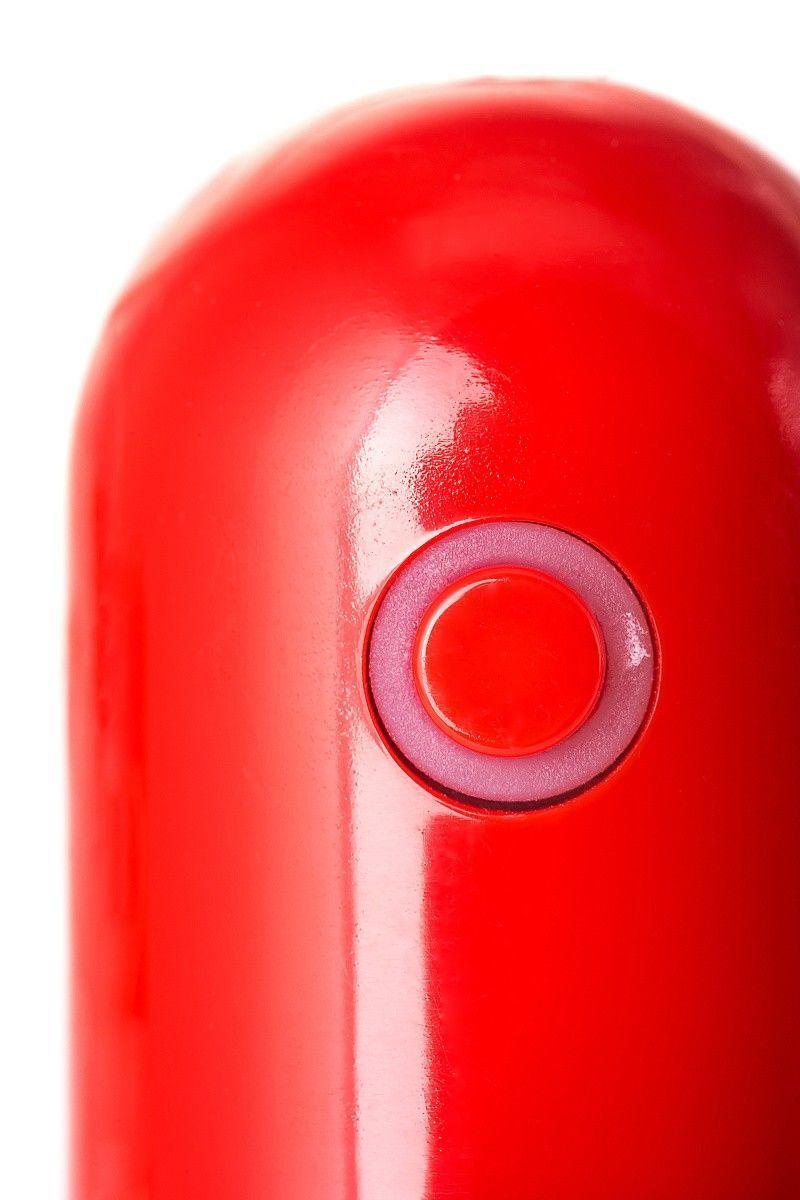Анальная втулка с вибропулей, красная