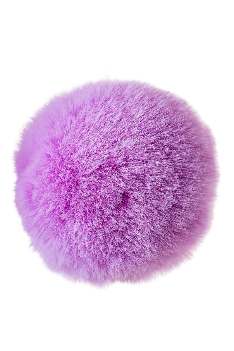 Анальная втулка с хвостом ToDo by Toyfa Sweet bunny, силикон, розово-фиолетовый, 13 см, Ø 2,8 см, 44 г