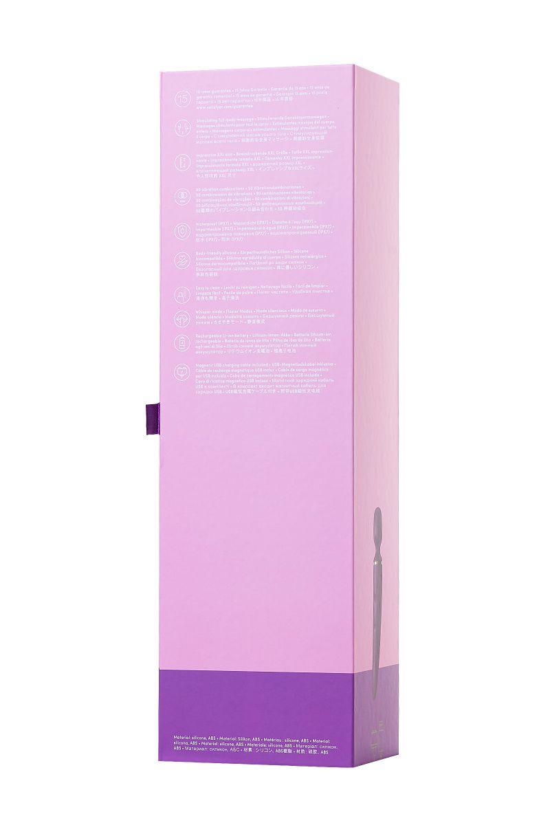 Нереалистичный вибратор Satisfyer Woman Wand, 10 режимов вибрации, ABS пластик, Фиолетовый, 34 см, Ø 5,7 см