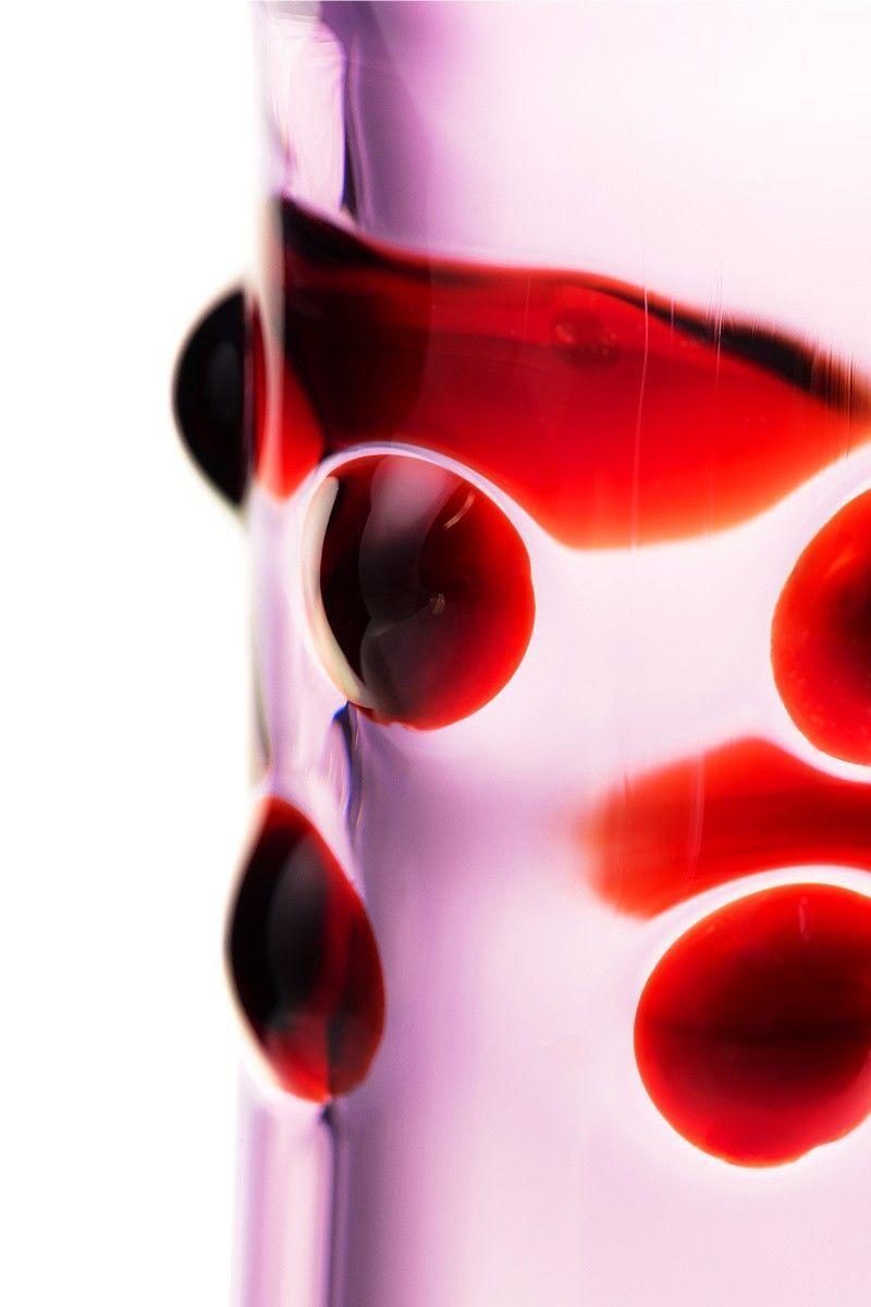 Нереалистичный фаллоимитатор Sexus Glass, Стекло, Розовый, 17,2 см
