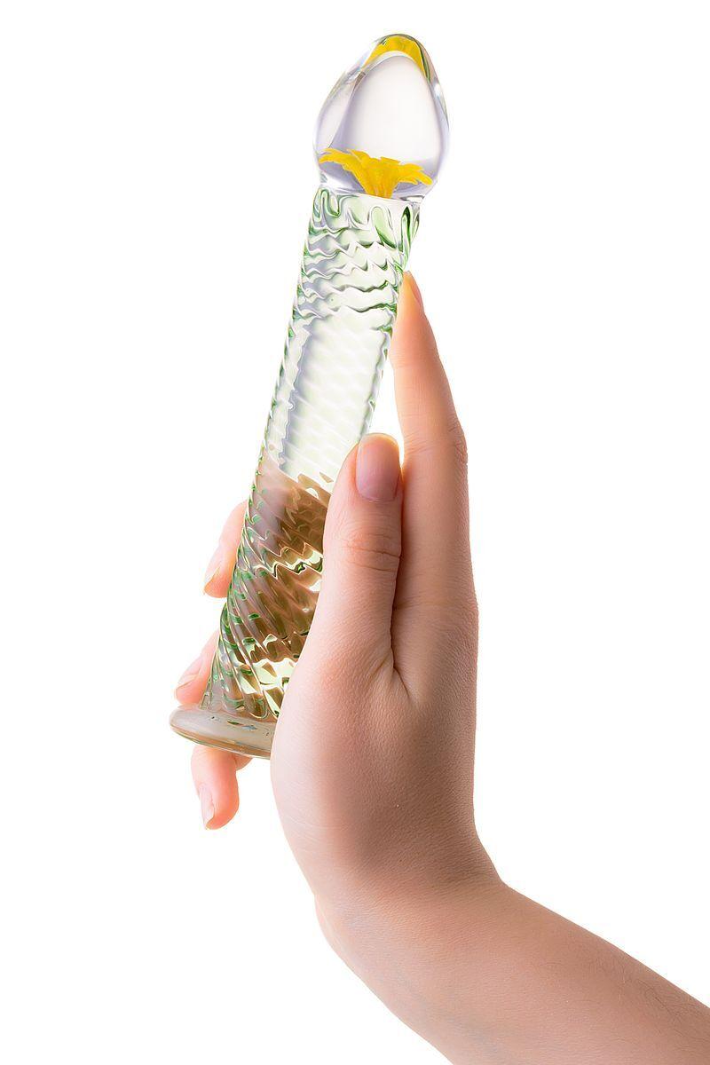 Нереалистичный фаллоимитатор Sexus Glass, Стекло, Прозрачный, 18,5 см