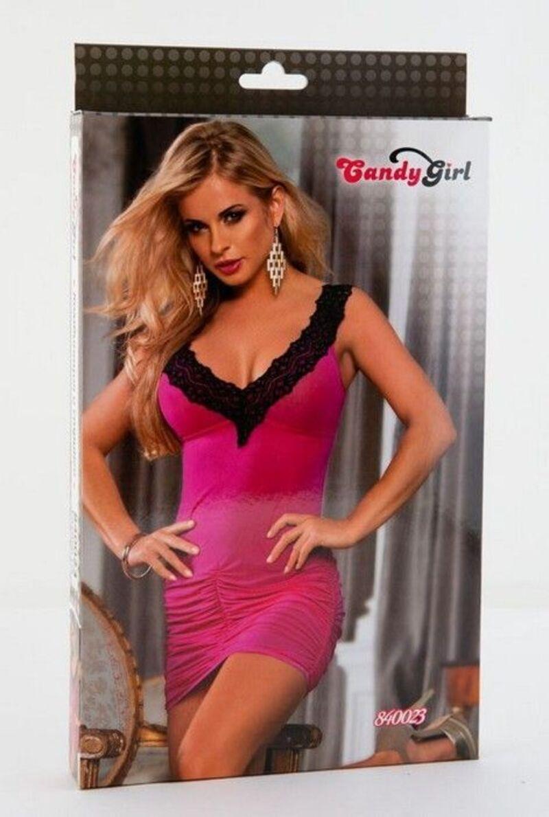 Комбинация и стринги Candy Girl, розовые, OS