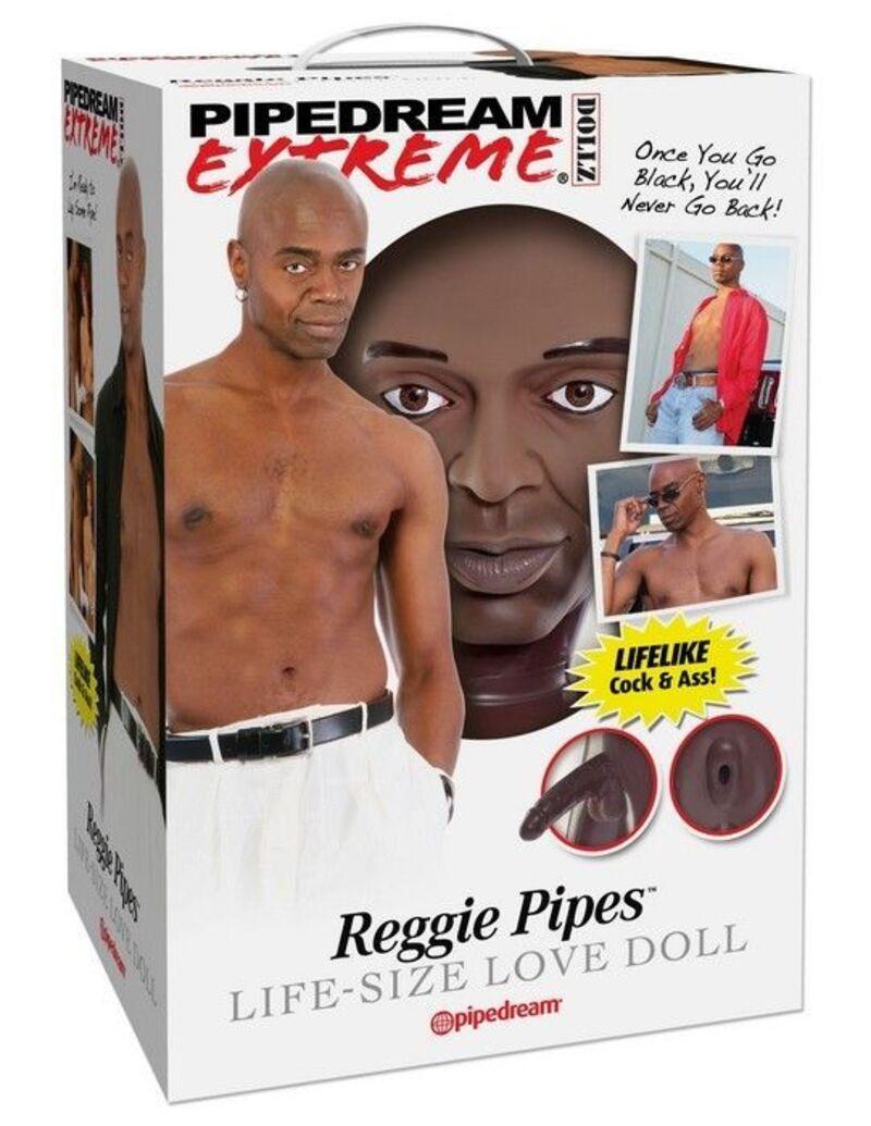 Кукла надувная-мужчина Reggie Pipes, реалистичный пенис и анус