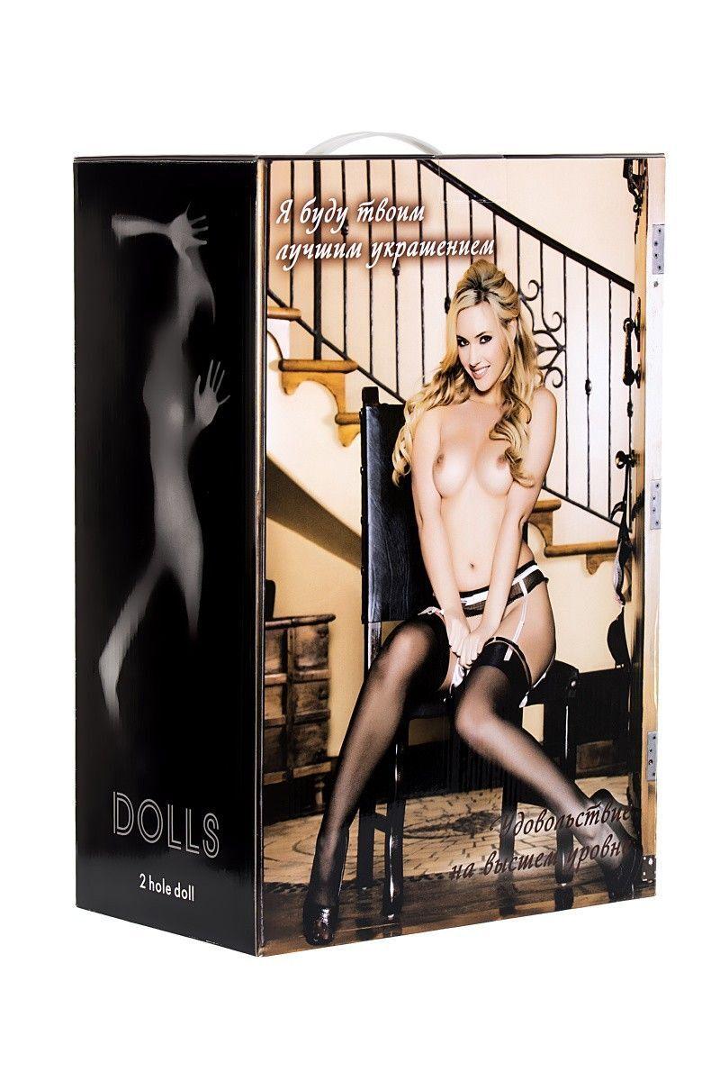 Кукла надувная Arianna с реалистичной головой,  блондинка,TOYFA Dolls-X,  с двумя отверстиями,вставка: вагина - анус, реалистичные ноги и руки, 160 см