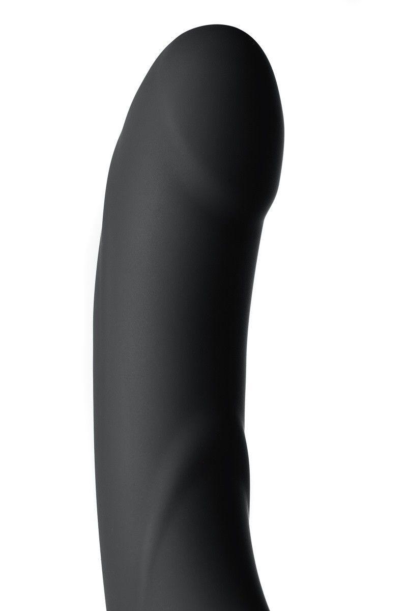 Безремневой страпон TOYFA Black&Red, силикон, чёрный