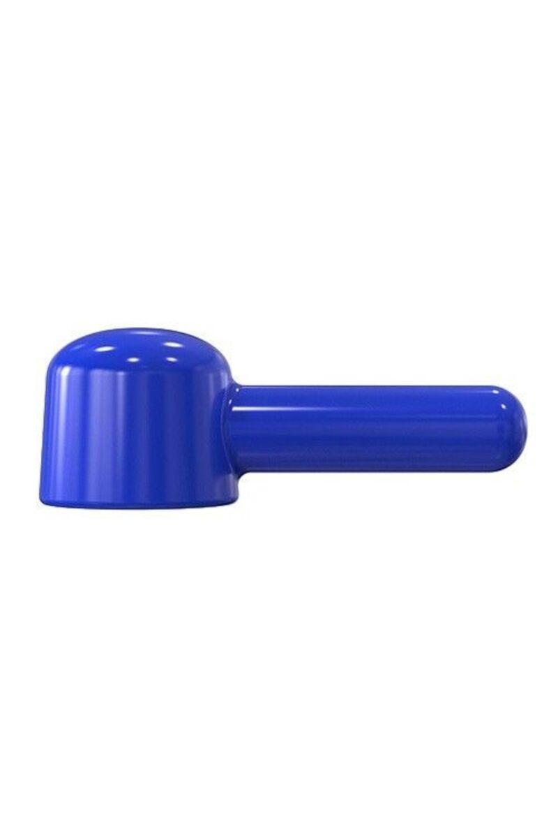 Насадка  для массажера Magic Wand, прямая, Hitachi,TPR, синий, 16 см