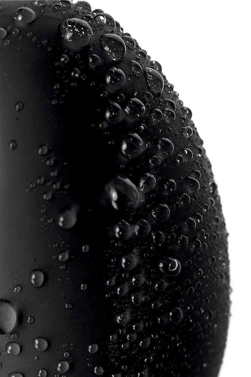Анальная втулка с вибропулей, черная