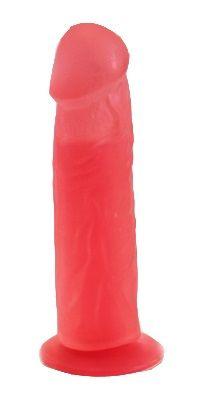 Фаллоимитатор гелевый розовый 18,5 см
