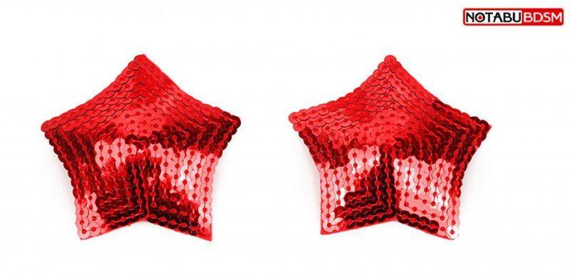 Пэстисы наклейки на грудь в форме звезд красные