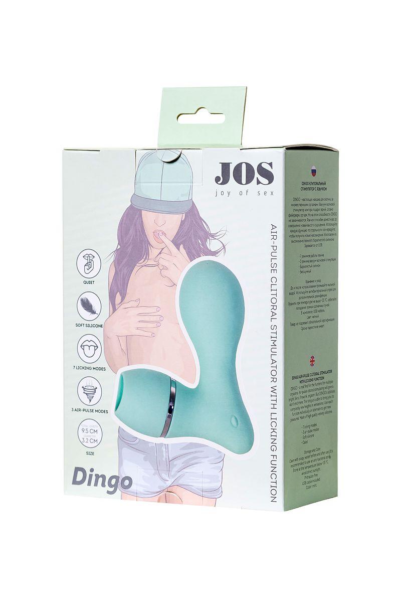 Вакуумный стимулятор клитора с язычком JOS DINGO, силикон, мятный