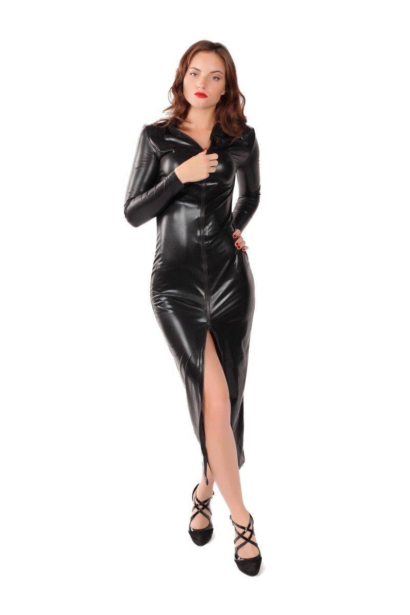 Платье на молнии MENSDREAMS, черное, L-XL