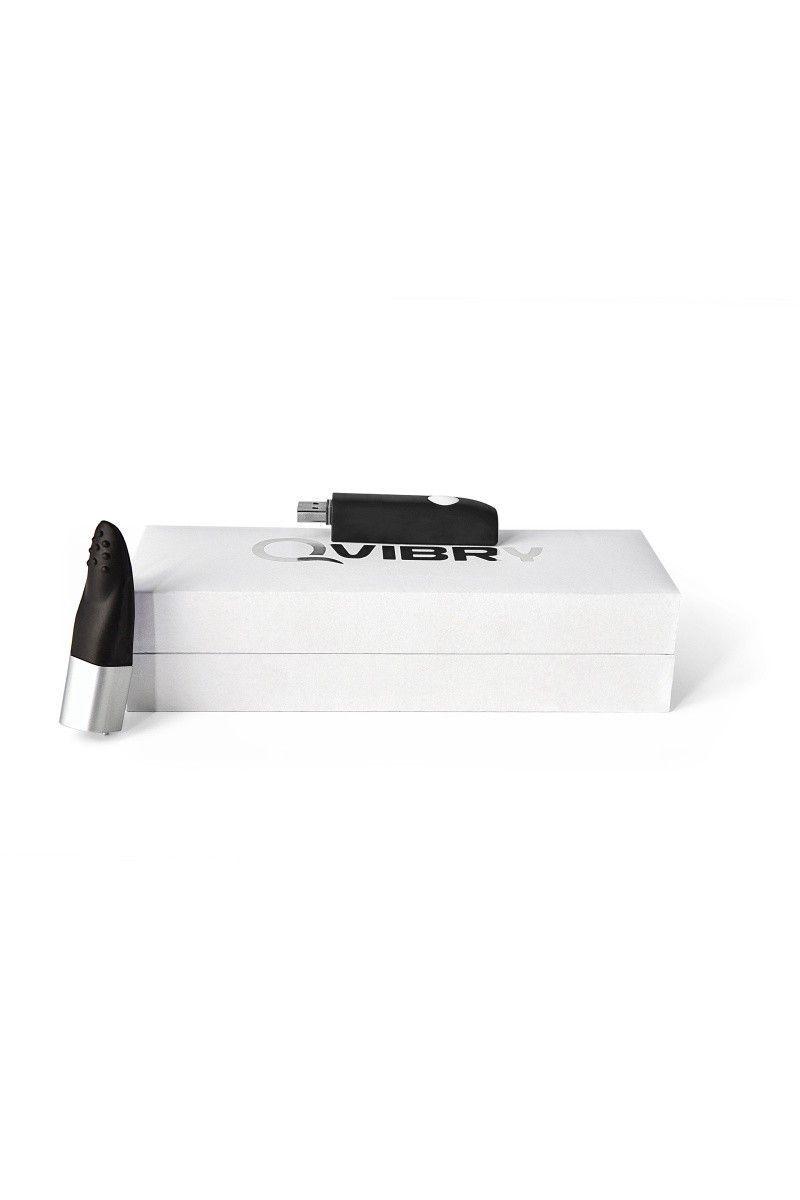 Вибратор клиторальный 8Gb USB памяти, 7 режимов вибрации, черный