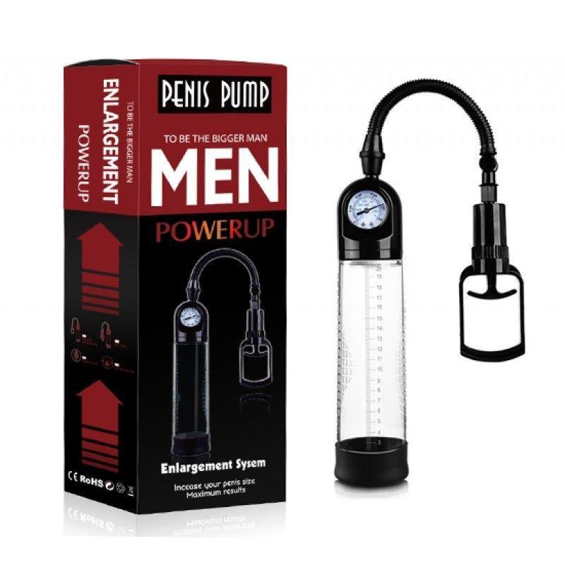 Помпа c монометром и рычагом для откачки воздуха MEN черная 28 см