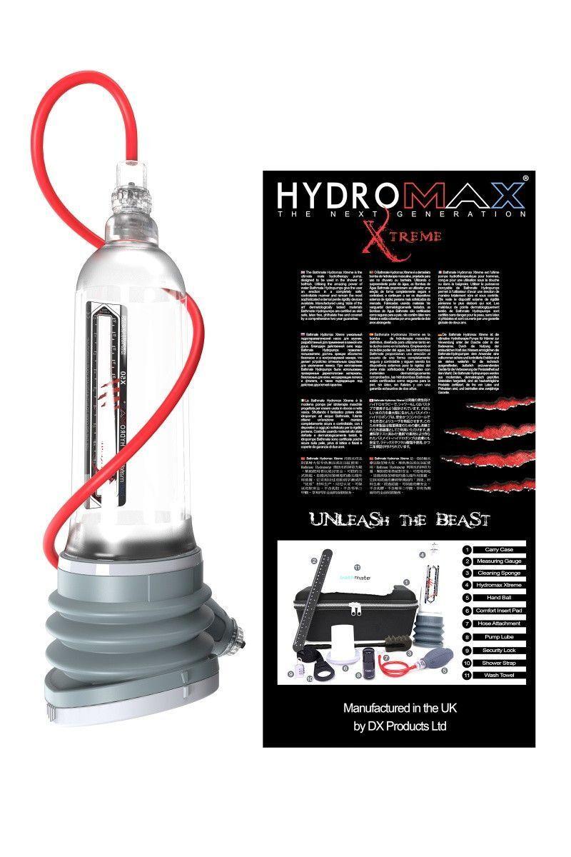 Гидропомпа Bathmate Hydromax Xtreme X50, прозрачная, 36,5 см