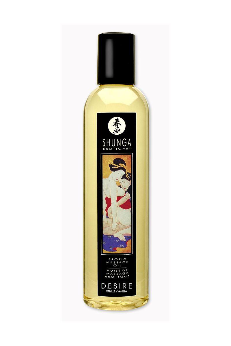 Массажное масло Shunga Ваниль, возбуждающее, натуральное, 250 мл