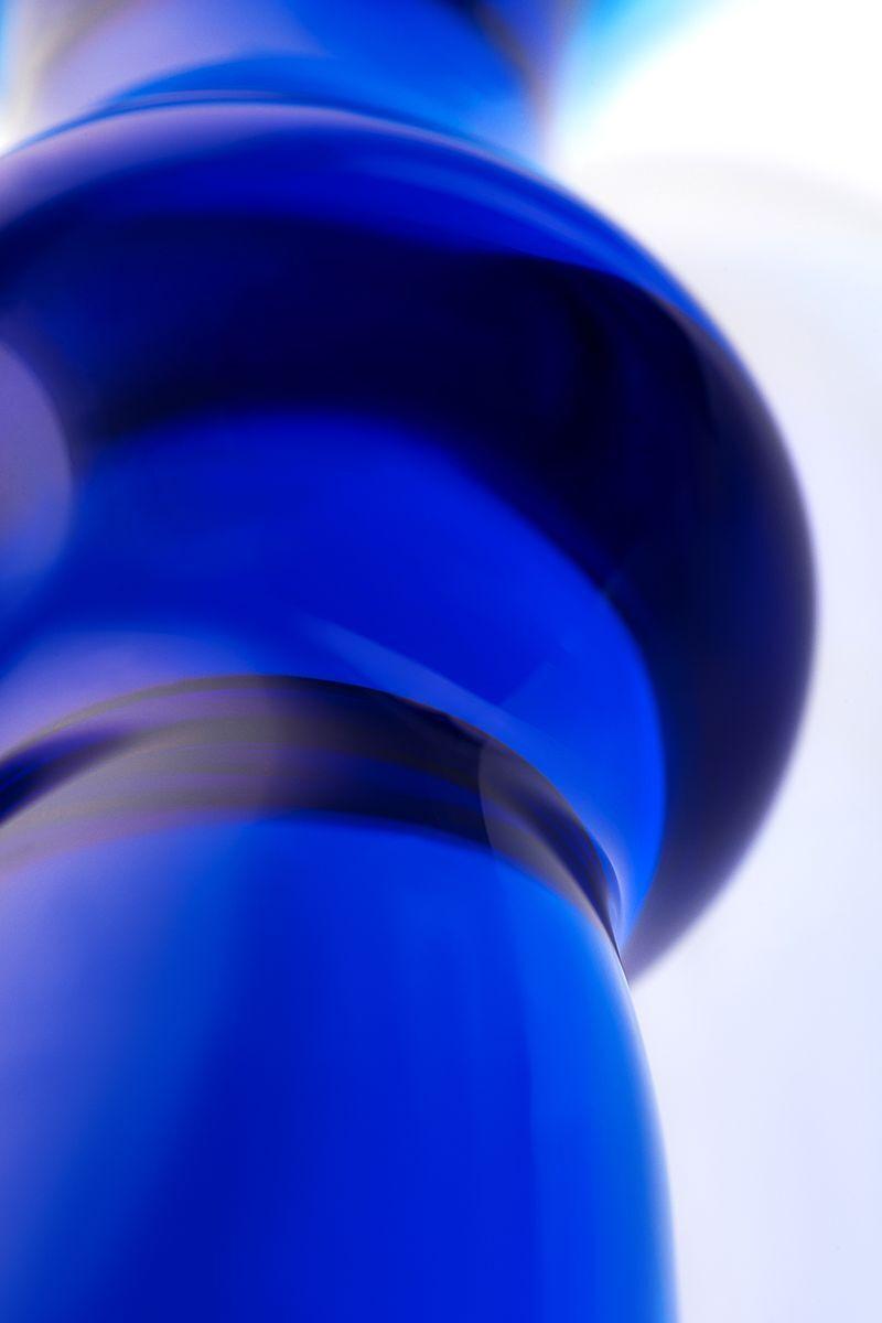 Анальная втулка Sexus Glass, Стекло, Синий, 13 см