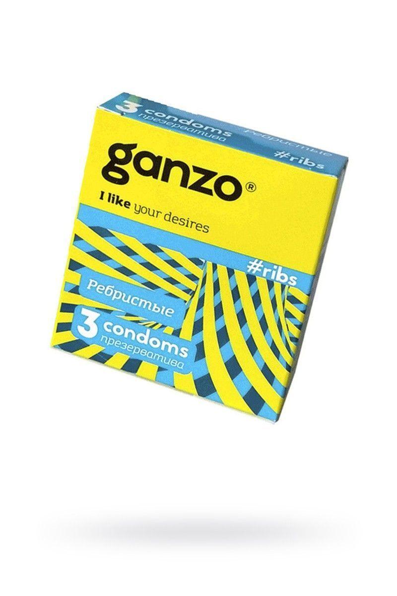 Презервативы Ganzo Ribs № 3Ребристые,   ШТ