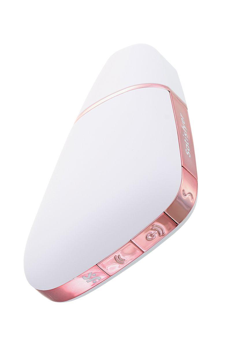 Вакуум-волновой бесконтактный стимулятор клитора Satisfyer Love Triangle, ABS пластик+силикон, Белый