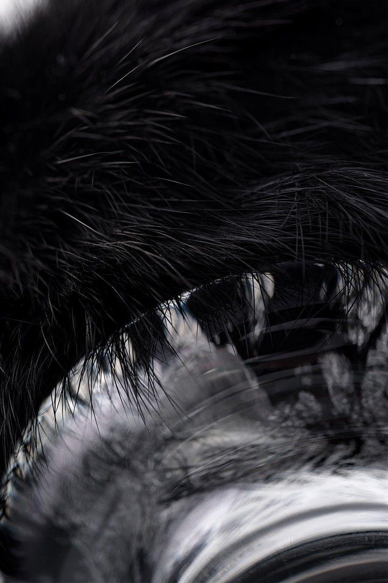 Анальная втулка Sexus Glass, Стекло, с черным хвостиком, 9,5 см