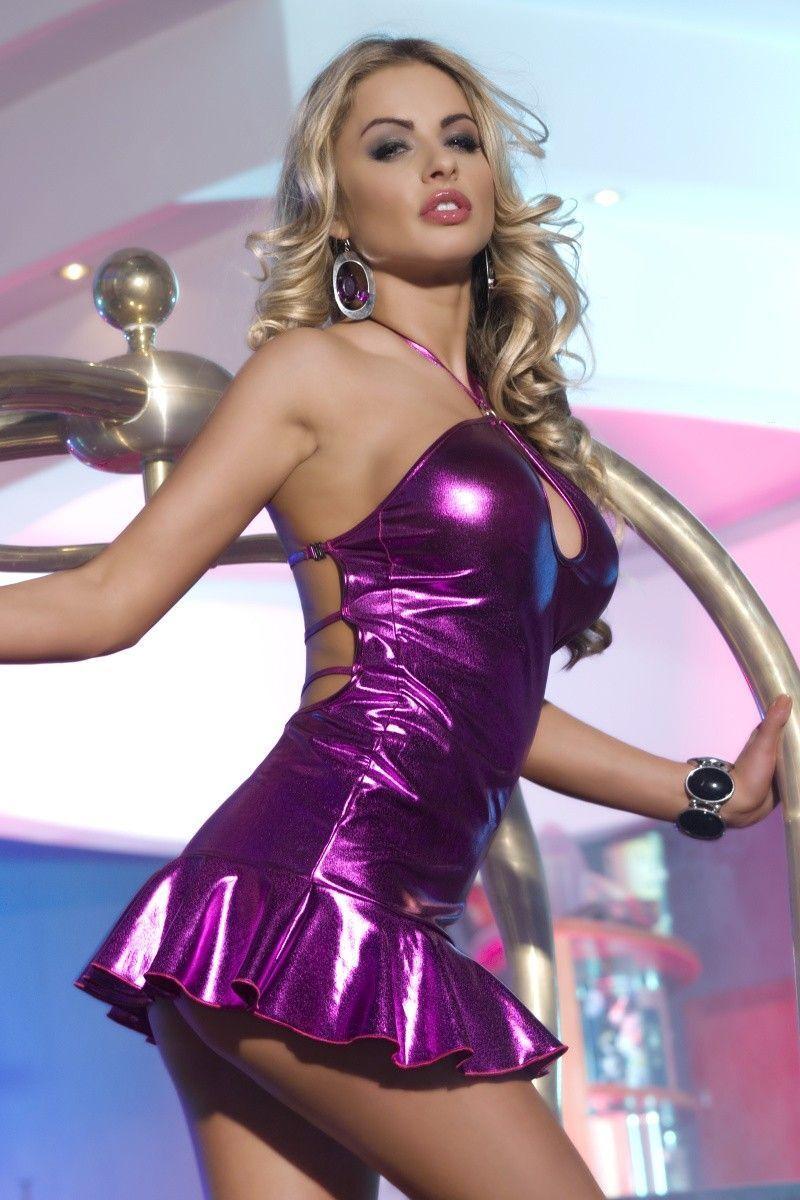 Клубное платье Candy Girl с открытой спиной, фиолетовое, OS