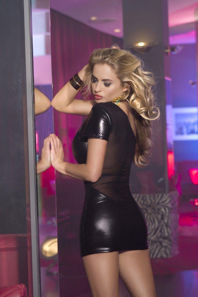 XL Клубное платье Candy Girl с открытым плечом, черное