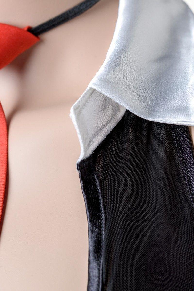 Костюм секретарши Candy Girl (топ, юбка, галстук), черно-белый, OS
