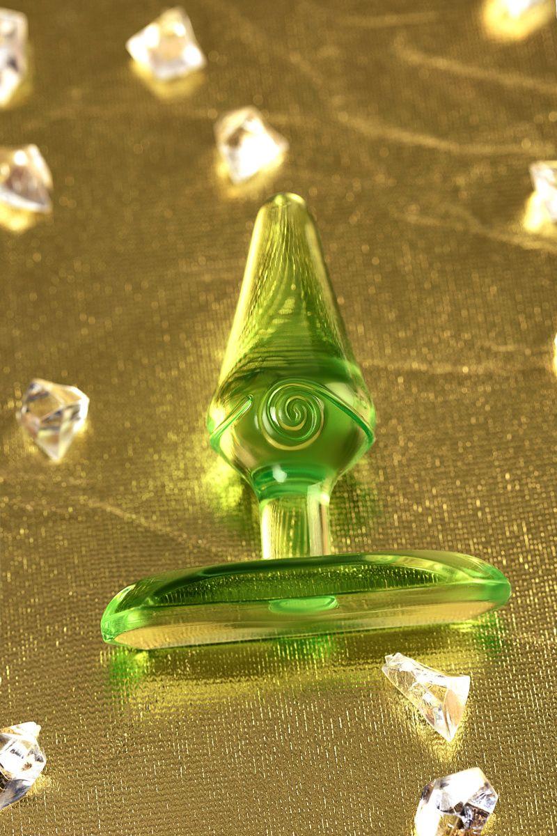 Анальная втулка TOYFA, ABS пластик, зеленая, 6,5 см, Ø 2,5 см