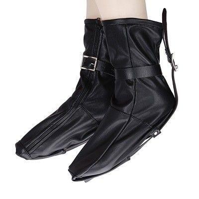 Мешки для ног кожаные черные