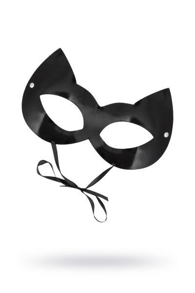 Маска Штучки-дрючки «Кошка», лакированная кожа, черная