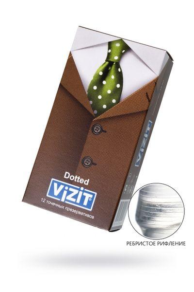 Презервативы VIZIT Dotted Точечные 12 шт, латекс, 18 см