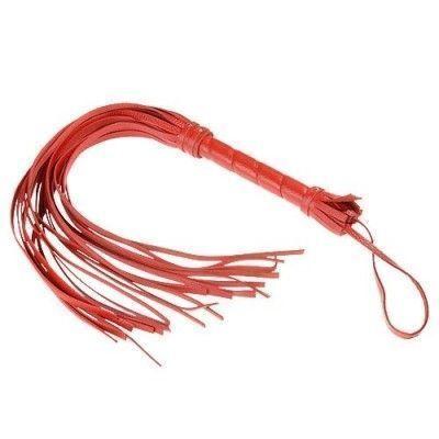 Плеть Sitabella красная 40 см,кожа