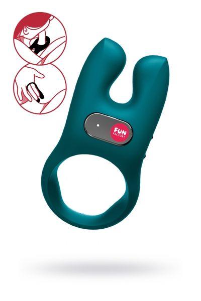 Кольцо эрекционное с вибрацией Fun  Factory  NOS зелёный,силикон