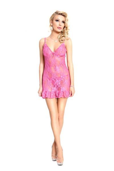 April - Ночная сорочка и стринги розовые-M/L