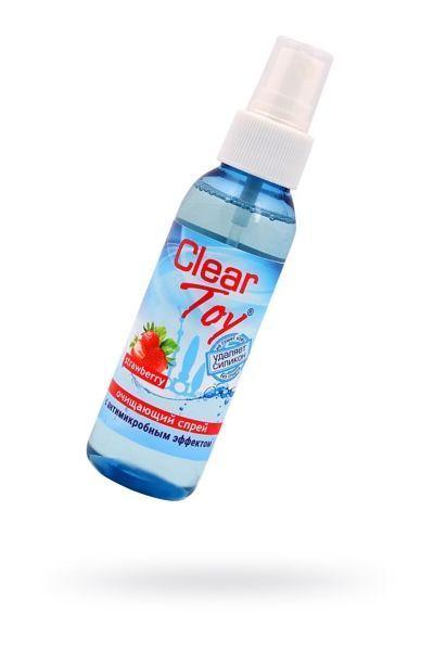 Очищающий спрей  'CLEAR TOYS STRAWBERRY' с антимикробным эффектом 100 мл