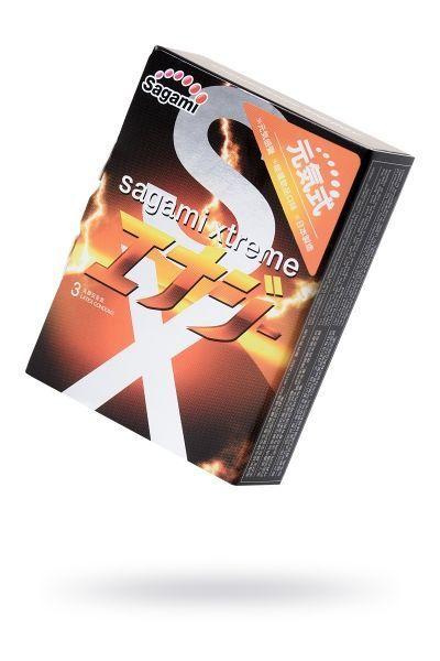 Презервативы латексные Sagami Xtreme Energy №3