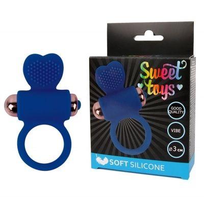 Виброкольцо Sweet toys синее D 3 см