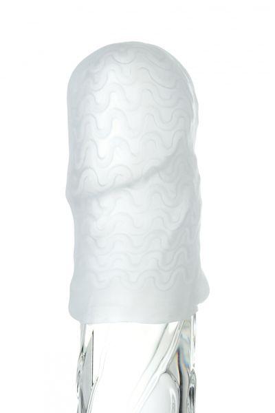 Мастурбатор TOYFA A-Toys Pocket Wavy, TPR, белый, 7,8см (растягивается до 30см)