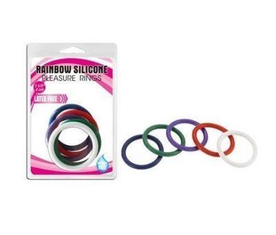 Набор эрекционных колец Rainbow Silicone 5 шт разноцветный