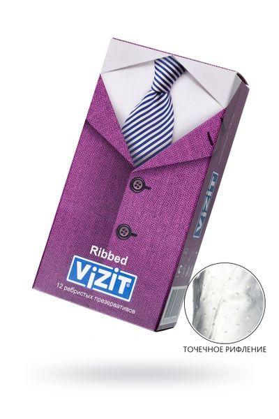Презервативы VIZIT Ribbed Ребристые 12 шт, латекс, 18 см