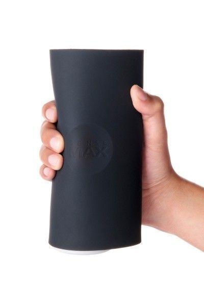 Мастурбатор нереалистичный Sense Max  , Силикон, Чёрный, 18.5 см