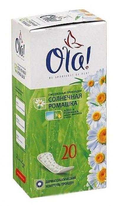 Прокладки гигиенические Ola!  Солнечная ромашка  ежедневные 20 шт