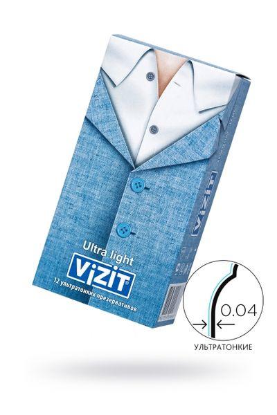 Презервативы VIZIT Ultra light Ультратонкие 12 шт, латекс, 18 см