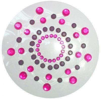 Украшение на соски черно-розовое