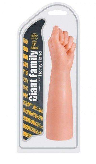 Фаллоимитатор в форме руки HORNY HAND FIST 33 см