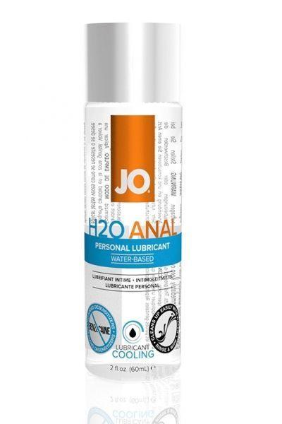Анальный лубрикант на водной основе с охлаждающий и обезболивающий эффектом JO Anal H2O Cool 60 мл