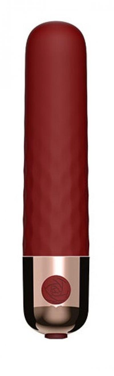 Вибропуля перезаряжаемая 10 режимов красная 9,5 см